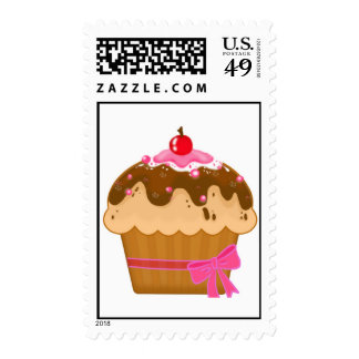 Cute cupcake postage stamps