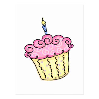 Cute Cupcake Postcard