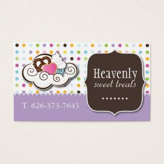 Cute Cupcake, Pretzel and Cookie Business Card