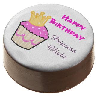 Cute Cupcake Princess Birthday Personalized Chocolate Dipped Oreo