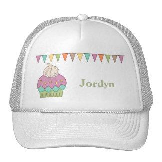Cute Cupcake Purple Teal Birthday Party Celebrate Trucker Hat