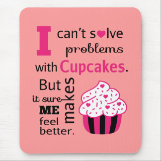 Cute Cupcake quote, Happiness Mouse Pad