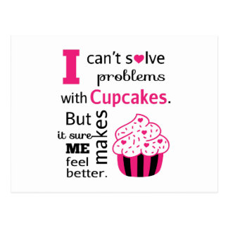 Cute Cupcake quote, Happiness Postcard