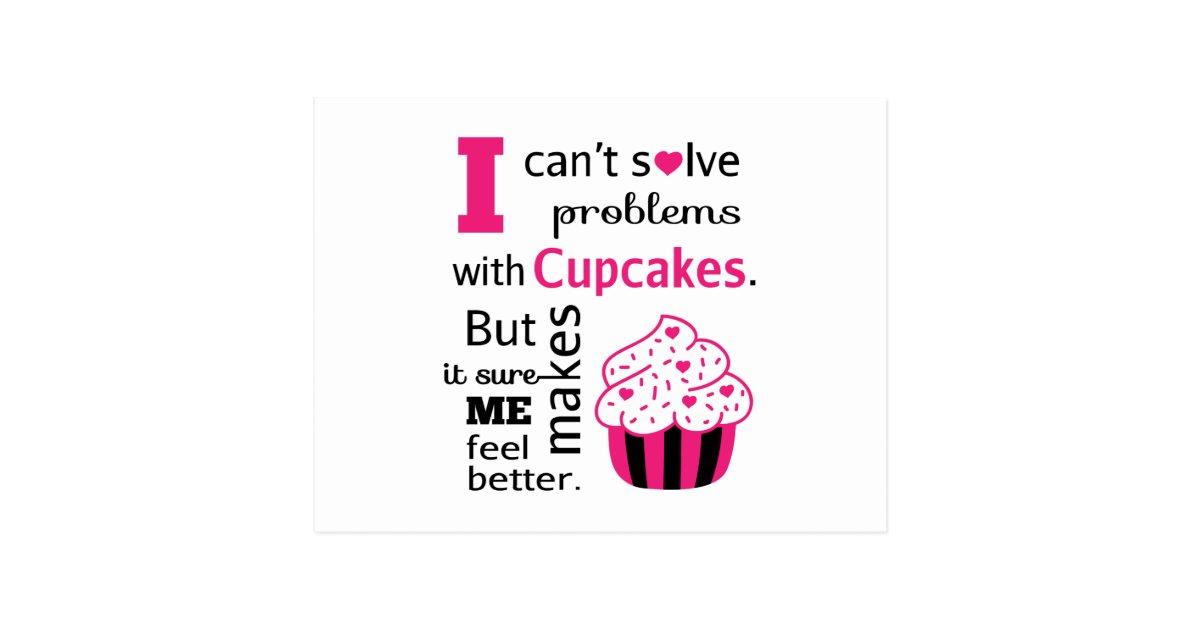Cute Cupcake quote, Happiness Postcard | Zazzle.com