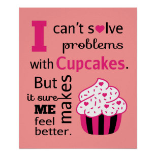 cute cupcake quote happiness poster