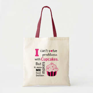 Cute Cupcake quote, Happiness Tote Bag