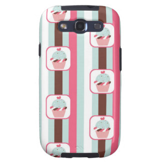 Cute Cupcake Retro Pattern Galaxy SIII Cover