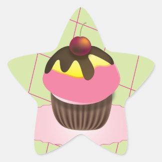 Cute Cupcake Star Sticker