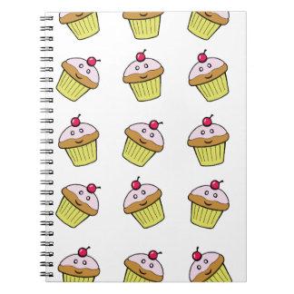 cute cupcake tile notebook