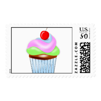 Cute Cupcake U.S. Postage Stamp