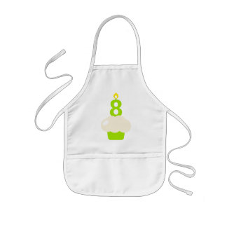 Cute Cupcake with Birthday Candle Kids' Apron