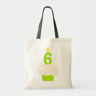 Cute Cupcake with Birthday Candle Canvas Bag