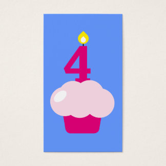 Cute Cupcake with Birthday Candle bookmark Business Card