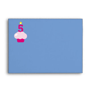 Cute Cupcake with Birthday Candle Envelope