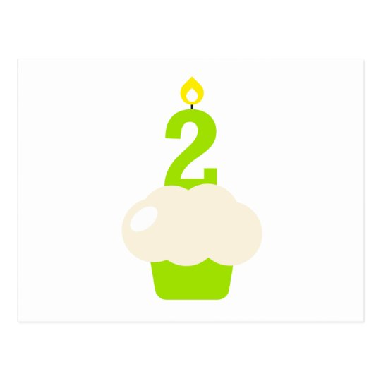 Cute Cupcake with Birthday Candle Postcard
