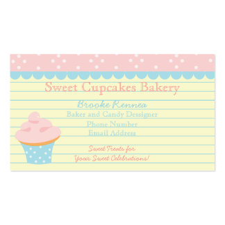 Cute Cupcake with Dots Business Card