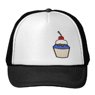 Cute Cupcake with Royal Blue Icing Hat
