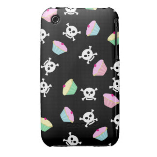Cute Cupcakes and Skulls Emo  iPhone 3 Case