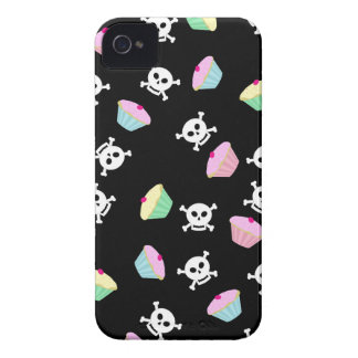 Cute Cupcakes and Skulls Emo iPhone 4 Case
