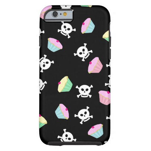 Cute Cupcakes and Skulls Emo iPhone 6 case