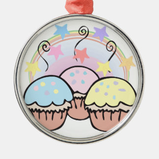 cute cupcakes and stars christmas ornament
