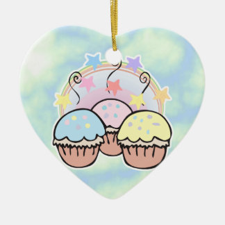 cute cupcakes and stars ornament