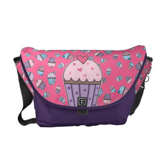 Cute Cupcakes (blue/pink/purple) Courier Bag