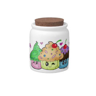 """Cute Cupcakes"" Candy Jar"
