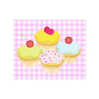 Cute Cupcakes Stretched Canvas Print