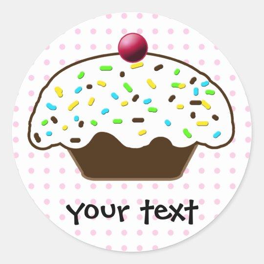 Cute Cupcakes Classic Round Sticker
