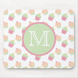 Cute Cupcakes Custom Monogram Mousepad