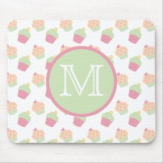 Cute Cupcakes Custom Monogram Mousepad