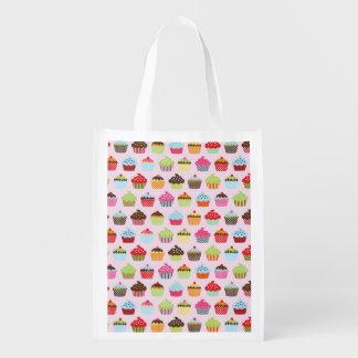 Cute Cupcakes Grocery Bag
