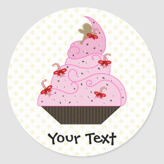 Cute Cupcakes Holiday Gifts Classic Round Sticker