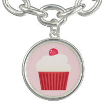 Cute Cupcakes pattern Charm Bracelets