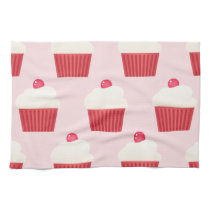 Cute Cupcakes pattern Hand Towel