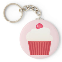 Cute Cupcakes pattern Keychain