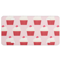 Cute Cupcakes pattern License Plate