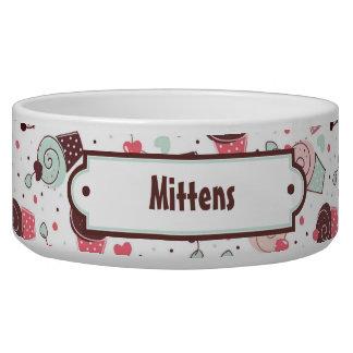 Cute Cupcakes Pattern Pet Bowls