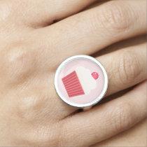Cute Cupcakes pattern Rings