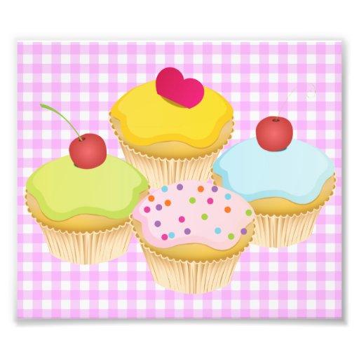Cute Cupcakes Photographic Print