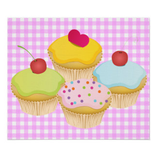 Cute Cupcakes Print