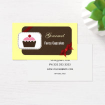 cute cupcakes red business cards