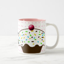 Cute Cupcakes Two-Tone Coffee Mug