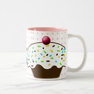 Cute Cupcakes Two-Tone Coffee Mug