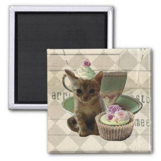 Cute Cupcat II kitten magnet