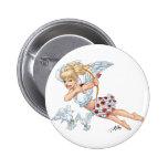 Cute Cupid Angel with Love Arrow by Al Rio Pinback Button