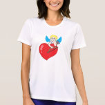 Cute Cupid resting on heart Shirt
