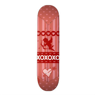 Cute Cupids and Hearts Valentine's Day Gifts Skateboard Deck