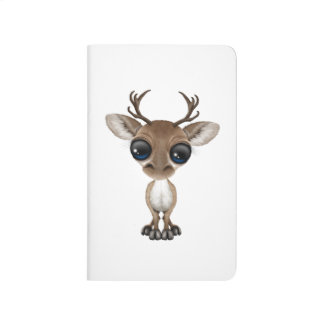 Cute Curious Baby Reindeer with Big Eyes Journals